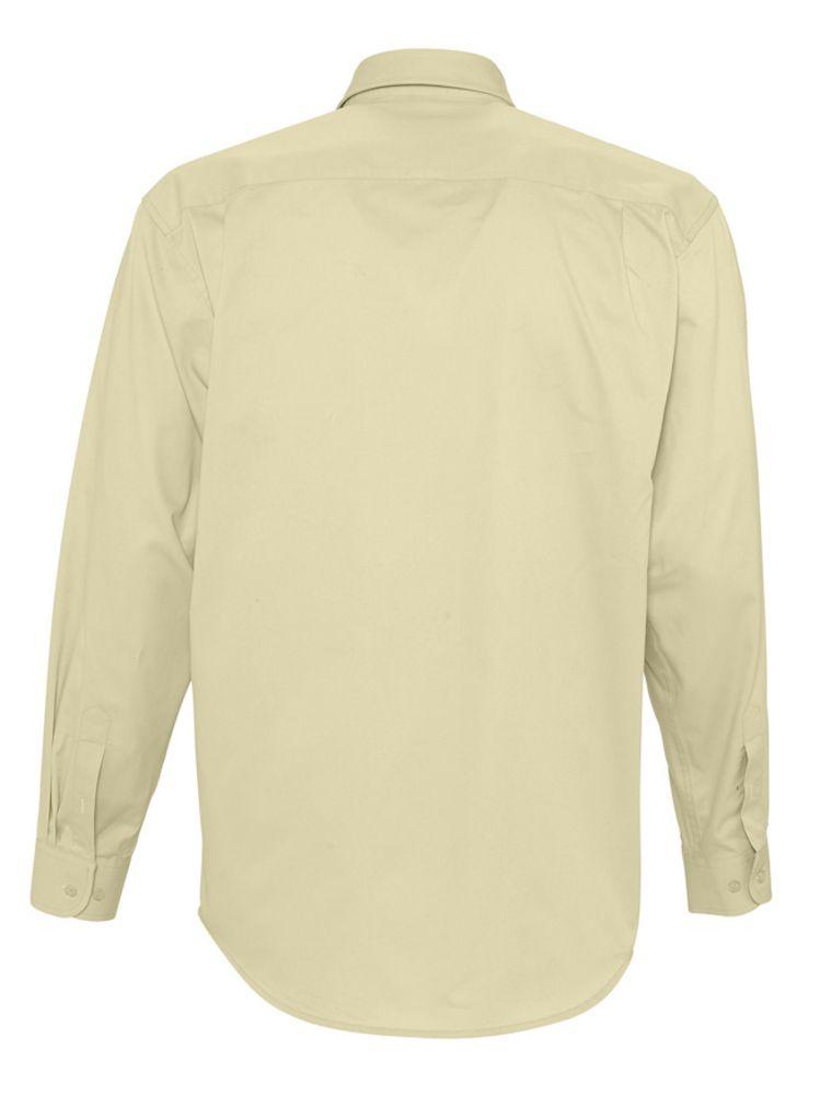 06e4a57d922 Рубашка мужская с длинным рукавом BEL AIR бежевая. Артикул  5283